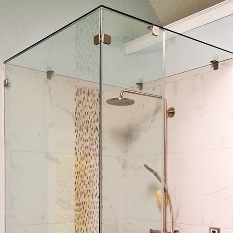 Rose Tree Glass Shower